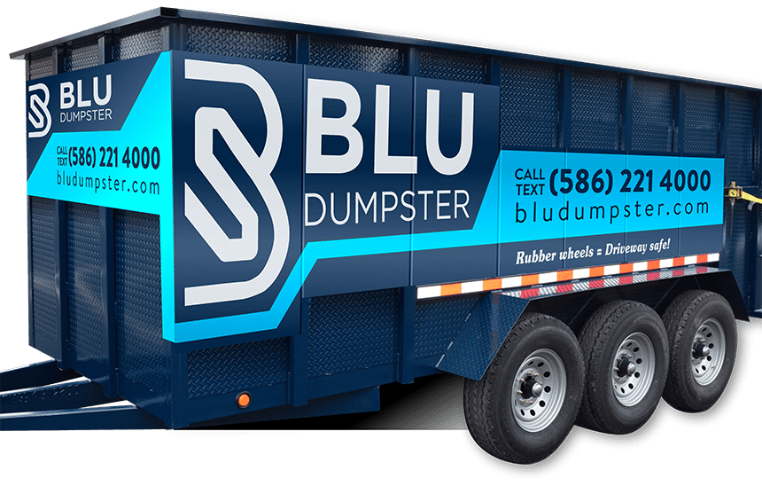 BLU Dumpster Rentals' Dumpster: A picture of